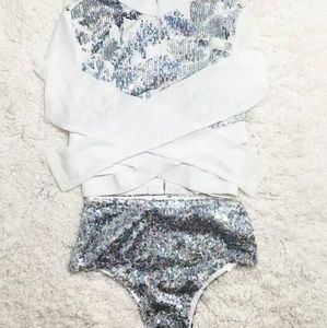 iHeartRaves Sequin Booty Shorts